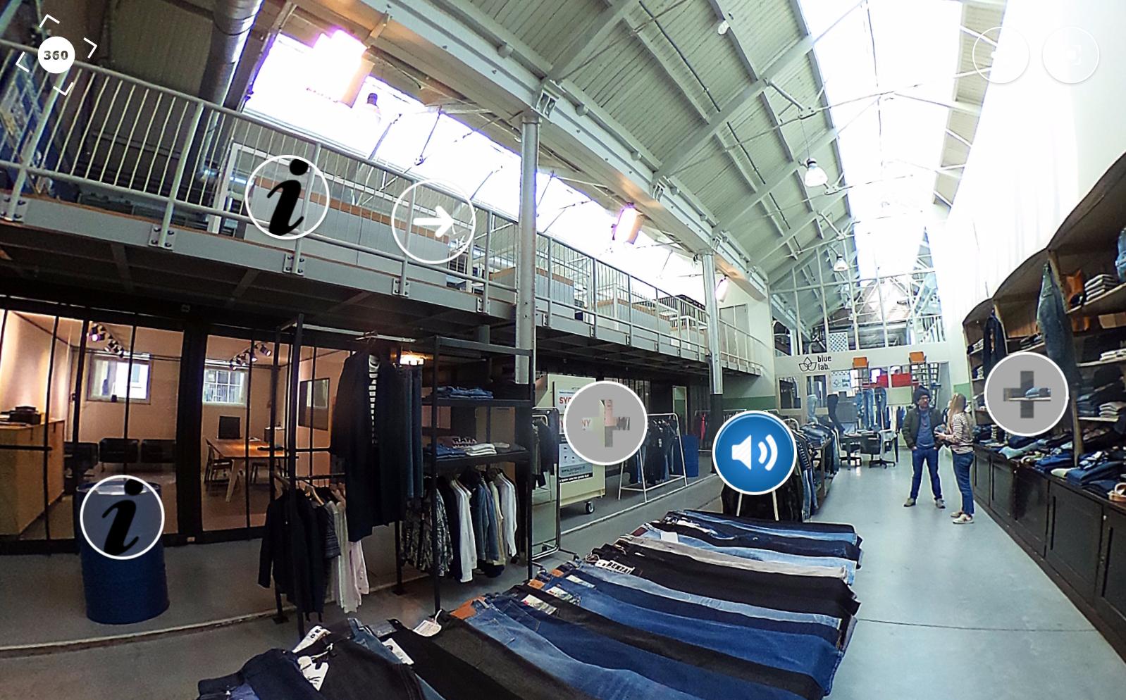 360 graden productie voor Fashion United over The House of Denim | Denim City